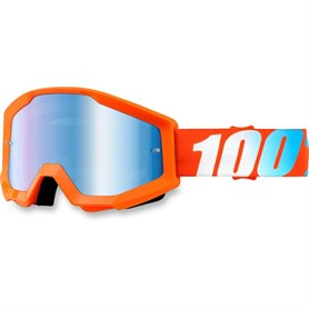 100% GOGGLE STRATA SOLID ORANGE ANTI-FOG Gözlük