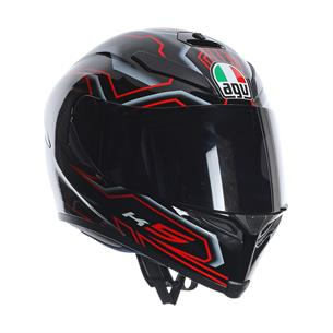 AGV K-5 DEEP BLACK/WHITE/RED Kask